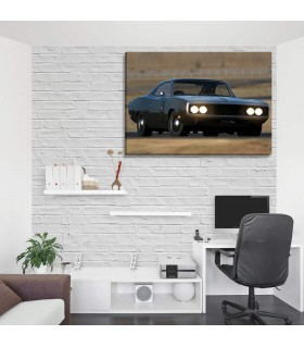 dodge charger canvas frames
